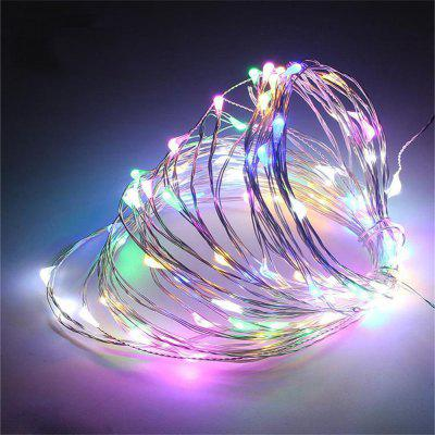 LED String Copper Wire Fairy Lights Battery USB 12V Xmas Party Fairy Decor Lamp glass display cloche domes led night lamp table light for christmas wedding decoration usb gift wire led fairy string lights