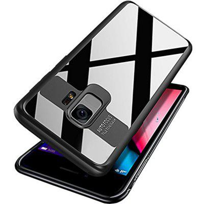 Luxury TPU + Acrylic Transparent Back Cover for Samsung Galaxy S9