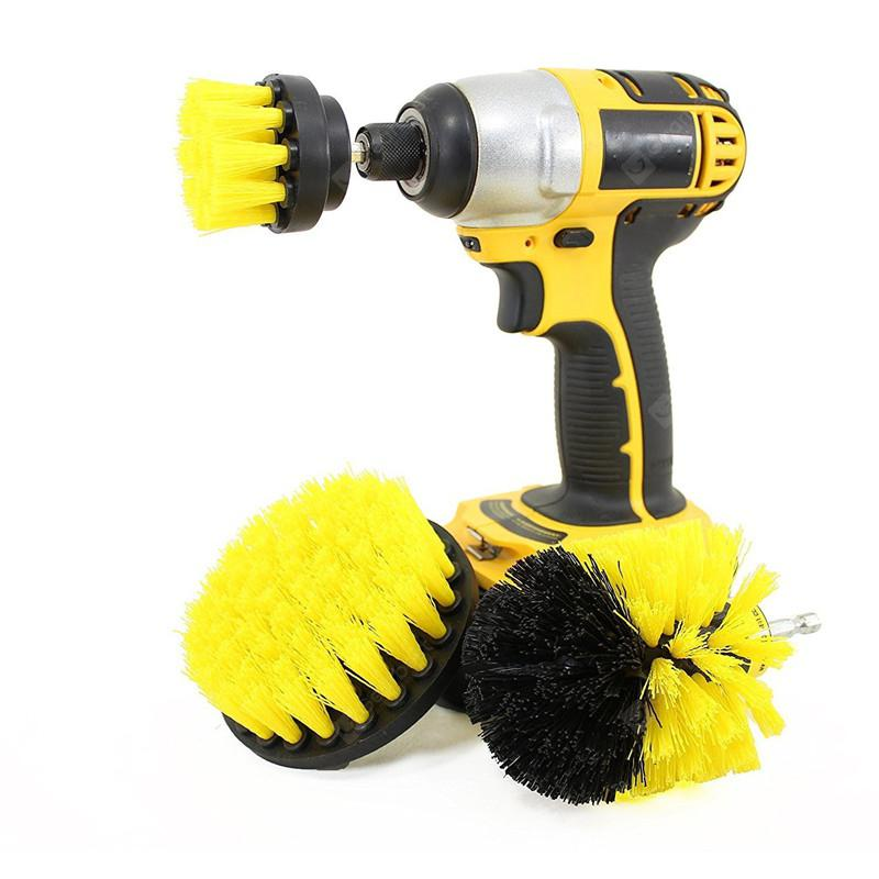 3 in 1 Electric Drill Brush Head YELLOW