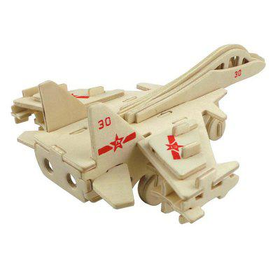 DIY 3D Wooden Puzzle Big Plane for Kids Gift 3d wood puzzle diy model kids toy france french style coffee house puzzle assemblage toys for children s gift