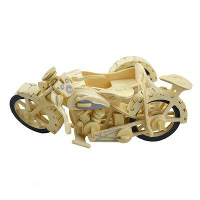 DIY 3D Wooden Puzzle 3 Cycle Motor Bike for Kids Gift 3d wood puzzle diy model kids toy france french style coffee house puzzle assemblage toys for children s gift