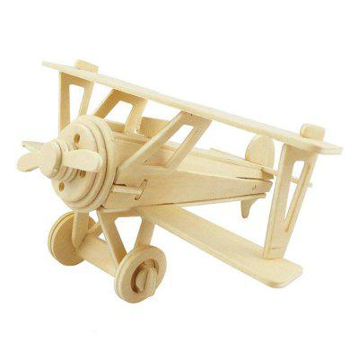 DIY 3D Wooden Puzzle Old Style Helicopter for Kids Gift 3d wood puzzle diy model kids toy france french style coffee house puzzle assemblage toys for children s gift