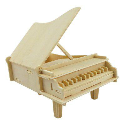 DIY 3D Wooden Puzzle Piano for Kids Gift 3d wood puzzle diy model kids toy france french style coffee house puzzle assemblage toys for children s gift