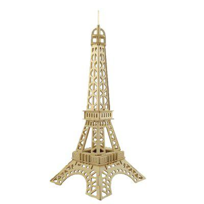 DIY 3D Wooden Puzzle Eiffel Tower for Kids Gift