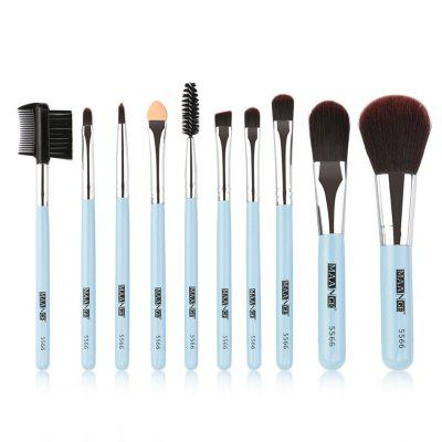 Ensemble de pinceaux de maquillage portable 10PCS