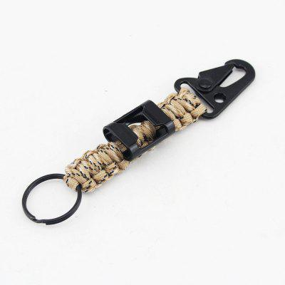 Outdoor Multifunctional Survival Umbrella Rope Bracelet Key Chain