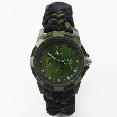 Outdoor Camping Multi-Function Watch Compass Rescue Rope Survival