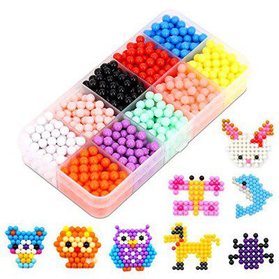 Water Beads Kit 15 Colors Art Crafts Toys for Kid 2200PCS aqua beads pegboard toys sticky beads accessories fuse beads jigsaw puzzle water beadbond educational toys diy kids