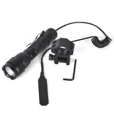 1200Lm XM-LT6 LED Tactical Flashlight Torch Mount Gun Hunting Light 1865 brinyte b158 night hunting flashlight led cree xm l2 u4 green red white color beam zoom with gun mount remote control switch