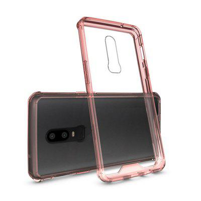 Case for OnePlus 6 Translucent Back Cover Solid Colored Hard Acrylic sweet bowknot pattern hard back cover pc case for iphone 6 translucent pink