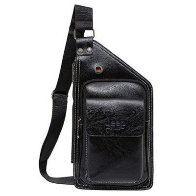 Chest Bag Solid Single Shoulder Wareproof Crossbody Zipper Bags Chest Pack