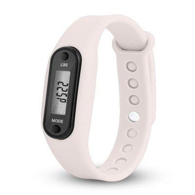 Digital LCD Silicone Band Pedometer Distance Calorie Counter Sport Watch