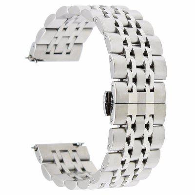 Butterfly Link Stainless 7 Beads Steel Strap Band For Samsung Gear S3 Classic crested milanese loop strap metal frame for fitbit blaze stainless steel watch band magnetic lock bracelet wristwatch bracelet