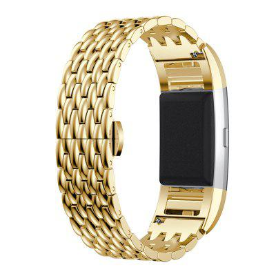 Metal Stainless Steel Strap Wrist Watch Band Bracelet For Fitbit Charge 2