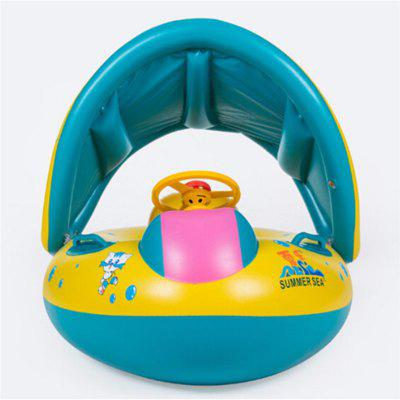 Infant Swimming Float Inflatable Adjustable Sunshade Seat Boat Ring Swim Pool