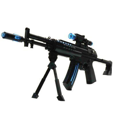 Electric Submachine Gun Boy Plastic ABS Model Music Luminous Children Toy plastic electric dancing butterfly around flower cat toy