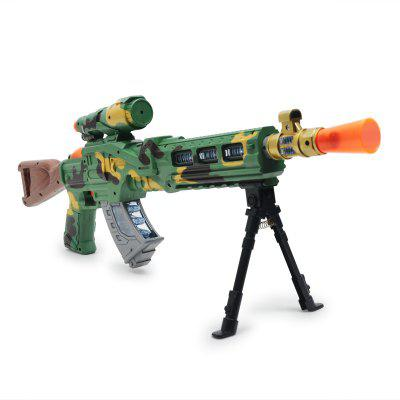 Electric Submachine Gun Boy Plastic Model Music Luminous Children Outdoor Toy plastic electric dancing butterfly around flower cat toy