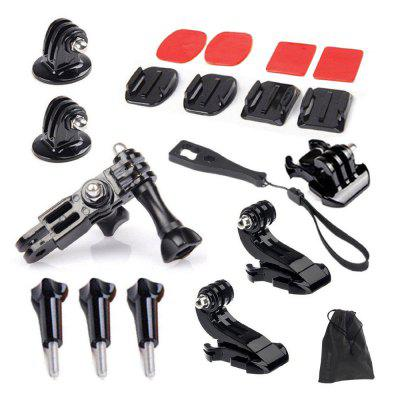 Accessories Set Helmet Surface Base Tripod Mount for GoPro Hero 6 / 5 / SJCAM htl 313 multi functional helmet installation accessories for gopro hero 4 black silver red