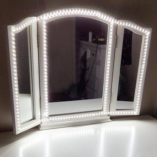Led Vanity Mirror Light Kit With Dimmer And Power For Makeup