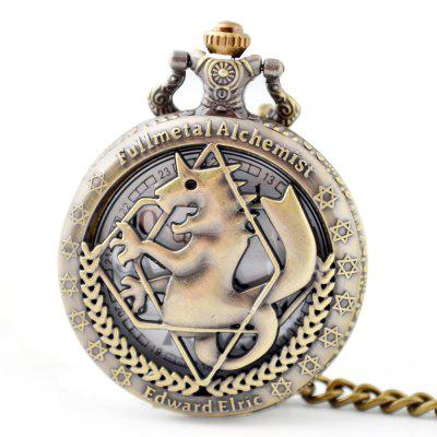 Sazonal 3152336 Hippocampal Retro masculino oco Out Pocket Watch