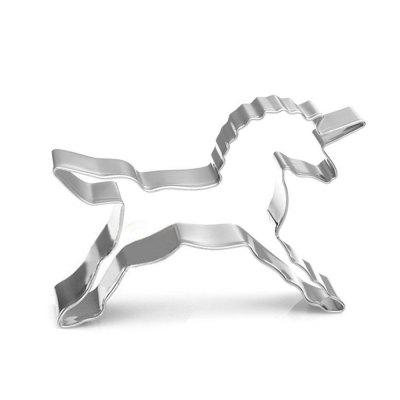 Unicorn Shape Biscuit Cookie Cutter Horse Tools Stainless Steel Baking Mold stainless steel cream horn mold