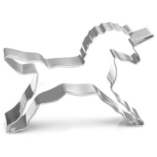 Unicorn Shape Biscuit Cookie Cutter Horse Tools Stainless Steel Baking Mold