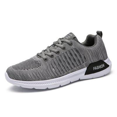 Men Breathable Summer Mesh Lace Up Hiking Running Shoes kuyupp fashion shoes woman breathable trainers spring flying knitting air mesh casual shoes lace up low top women shoes bt725