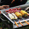 Stainless Steel Metal Bbq Barbecue Meat Skewer Grill Kebab Needles Stick 10PCS - SILVER