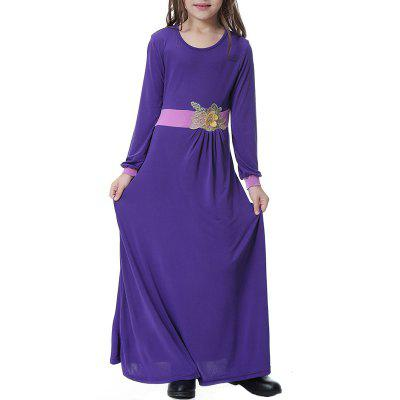 Solid Color Flower Girl Long Dress Long Gown