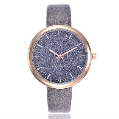 Women's Leather Belt Fashion Simple Scale Gypsophila Quartz Watch