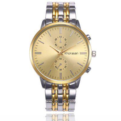 Fashion Men's Gold Casual Business Watch