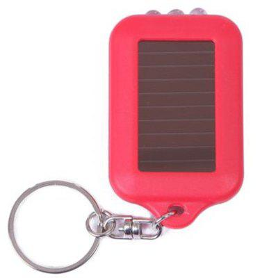 Solar-Powered LED Flashlight Keychain Handy Neat Bright