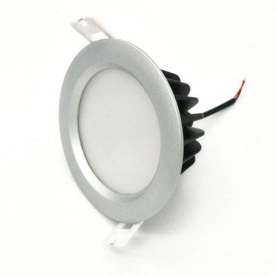 ZDM 1PC 7W Waterproof Dimming Silvery Die-casting Aluminum  LED Downlight AC220V