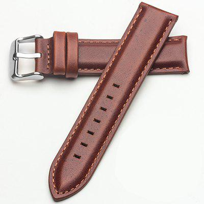 Rops Men's Piece Genuine Leather Watch Strap Band Buckle Spring Bars 20mm men s vintage regular replacement genuine leather silver buckle watch strap watch band