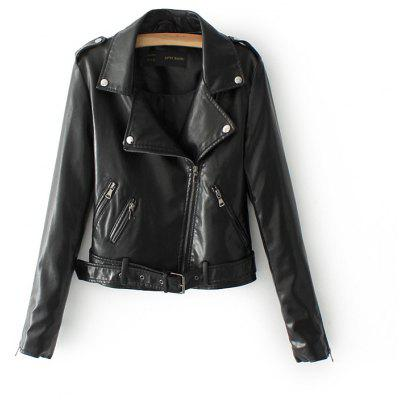 New Slim Short Leather Jacket