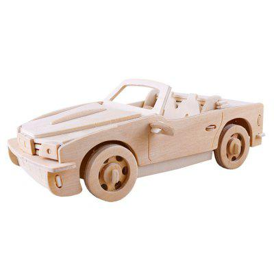 3D Wood Educational  Children Adults Sports Car Puzzles