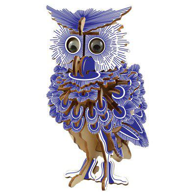 3D Wood Educational  Children Adults Blue Owl Puzzles