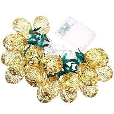 20Pcs LED Pineapple Fairy String Lights for Home Wedding Birthday Decoration glass display cloche domes led night lamp table light for christmas wedding decoration usb gift wire led fairy string lights