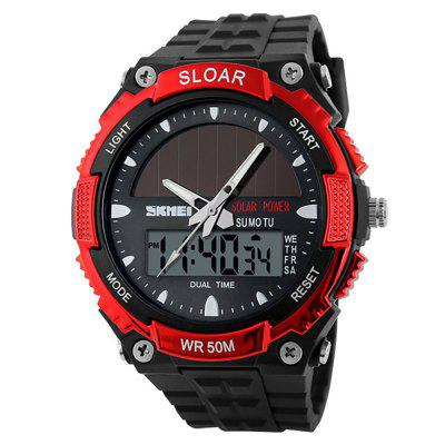 SKMEI Outdoor Sports Waterproof Shockproof Sun Energy Multifunktionsuhr