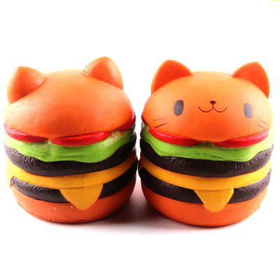 Jumbo Squishy Burger Cat Toys