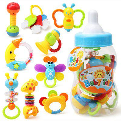 Baby Toy Hand Bell Combination Gift Box Bottle 9pcs