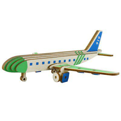 3D Wooden Puzzles Plane Airplane Model Assembling Building Kits