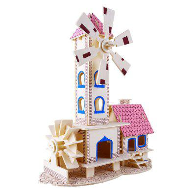 3D Wooden Puzzles Children House Model Assembling Building Kits