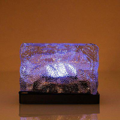 OMTO Solar LED Outdoor Ground Crystal Glass Brick Lawn Garden Decoration Lamp