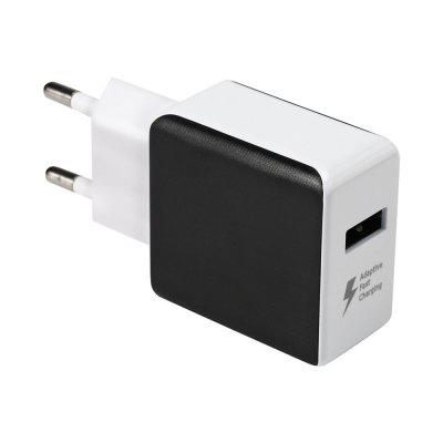 QC 3.0 Power Adapter Charger BLACK EU PLUG