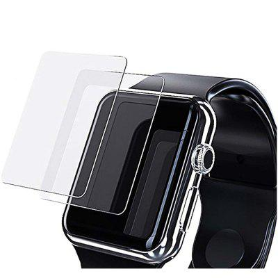 2PCS 9H Hardness 0.26mm Tempered Glass Screen Protector for Apple Watch 42mm