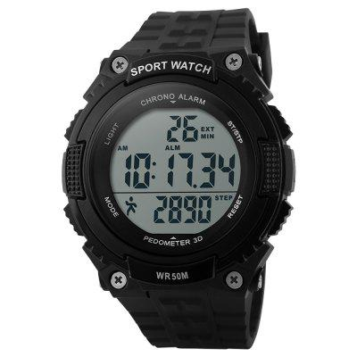 SKMEI Men LED Digital Krokomierz Chronograph Military Army Watch