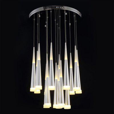 New limited simple personality glass chandelier modern for Modern personalities