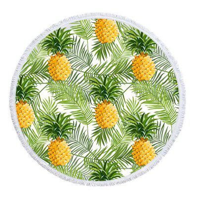 Palm Pineapple Beach Towel with Microfiber Tassel