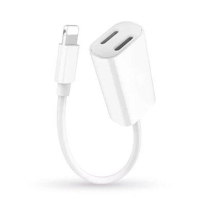 Double Jack Audio Charging Adapter for iPhone X /8 / 7